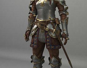 Knight Woman 3D