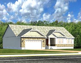 3D asset amrican row house