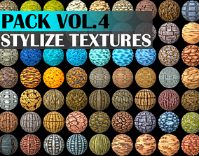 3D model Stylized Texture Pack - VOL 4