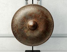 19th Century Laos Bronze Gong 3 east 3D model