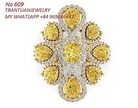 609 Diamond Ring for Women 3D print model