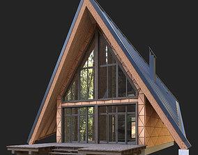 Modern house in the woods 3D model