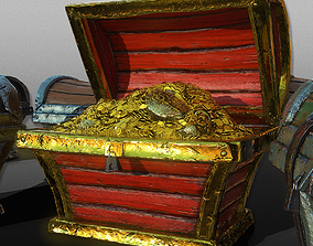 3D Treasure Wooden Chests - Game Ready VR / AR ready