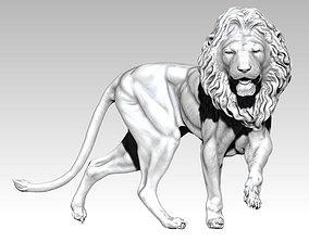 3D print model Realistic walking Lion King Jungle Cat