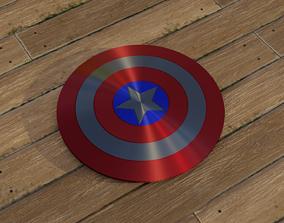 3D model endgame Captain America shield