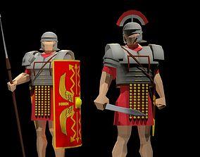3D asset Roman Legionary and Centurion