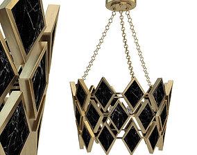 3D Robert Abbey Edward Pendant in Modern Brass Finish 2