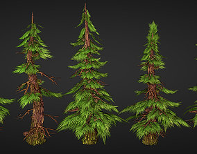 Trees 3D model game-ready