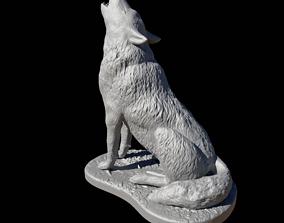 Wolf howling 3D print model