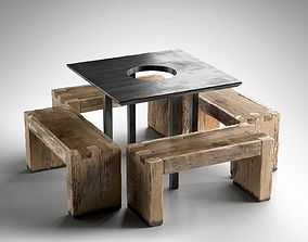 Tartinery Nolita Dining Tables and Benches 3D