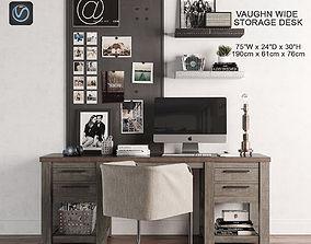 Vaughn Storage Desk 3D