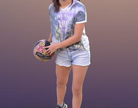 3D asset Layla 10291 - Playing Volleyball Girl