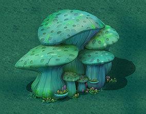 rtoon Edition - Ancient Nu Wa Mushroom Fossil 02 3D model