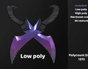 Low poly blades 3D model