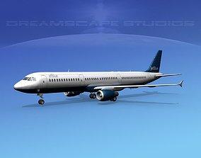 3D model Airbus A321 Jet Blue