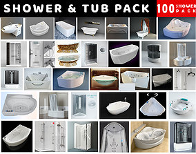 3D asset Bath Tub and Shower Collection - 100 Products