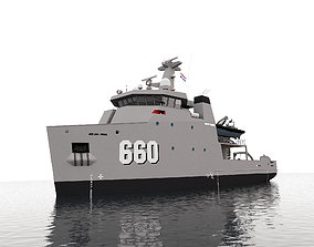 MILITARY MULTI-ROLE AUXILIARY VESSEL 660 3D model