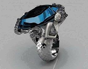 3D print model mermaid ring 2