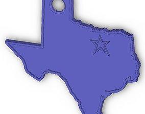 3D printable model Texas Keychain