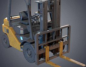 3D asset VR / AR ready Industrial Forklift