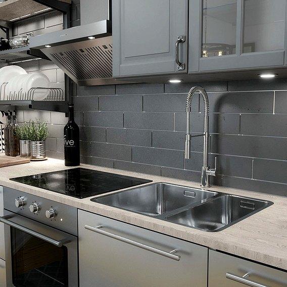 Kitchen design / IKEA - VÅRSTA stainless steel