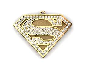 Super man logo 3D print model