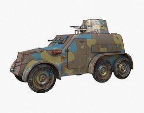OA vz 30 Armoured Car Czechoslovak Vray 3D