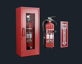 Fire Extinguisher Pack Game Ready 3D model