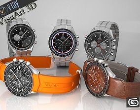 Omega Speedmaster Collection 3D model