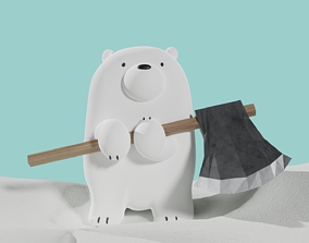 We Bare Bears - Axeman Ice Bear - Baby Ice Bear 3D model 1