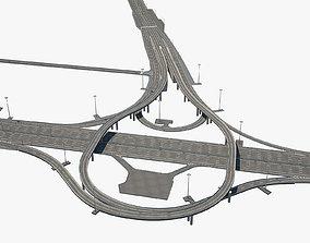 3D Highway Road Junction road