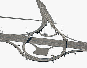 3D Highway Road Junction road