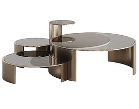 FENDI CONSTELLATION LITE COFFEE TABLE 3D asset low-poly