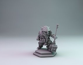 3D print model dwarf warrior