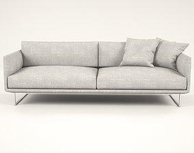 3D model White lend sofa
