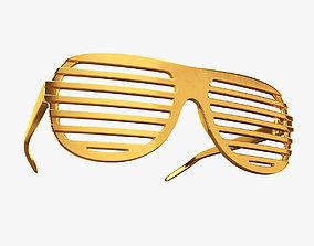 3D model Gold shutter shade sunglasses
