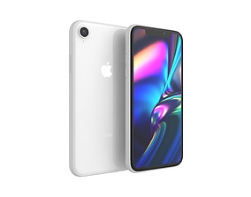 iPhone XR White 3D model