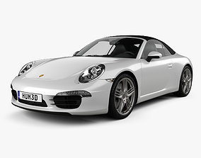 3D model Porsche 911 Carrera 4 S cabriolet 2012