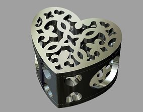 Heart Bead 3D print model