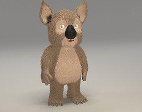 3D asset Cartoon koala