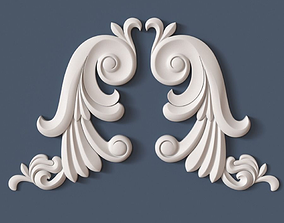 3D architecture Decorative Scroll