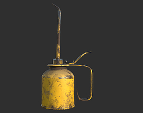 Vintage Oilcan Rusty PBR Game Ready auto 3D model
