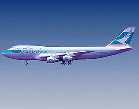 3D model Cathay Pacific Boeing