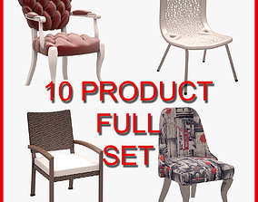 3D Chair Set 002 10 Product office