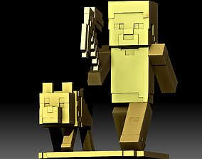 MineCraft 3d model STL file printable Mine Craft