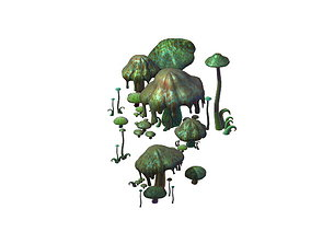 Model - poison Valley scene - poisonous mushroom