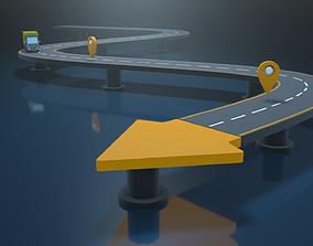 arrow shaped 3D asset