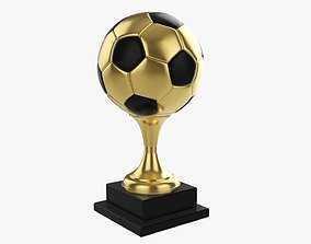 Trophy ball soccer 3D model