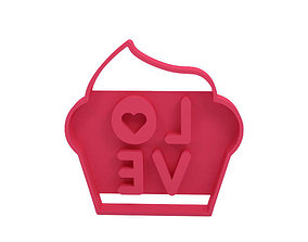 valentines 3D print model Cookie cutter