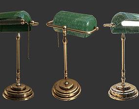 realtime Antique Desk Lamp Game Ready 3D Model
